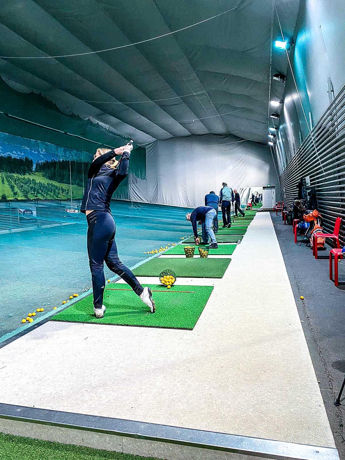 Golf sisäharjoitteluhalli